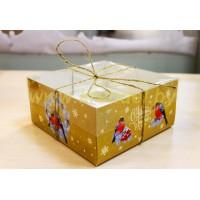 """Коробка для капкейков №2 """"Новогодняя серия"""" на 4 шт."""