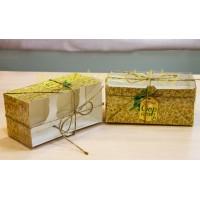 """Коробка для капкейков №4 """"Новогодняя серия"""" на 2 шт."""