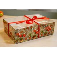 """Коробка для капкейков №7 """"Новогодняя серия"""" на 6 шт."""