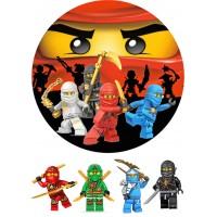 """Вафельная картинка """"Ниндзяго Лего"""" №1"""
