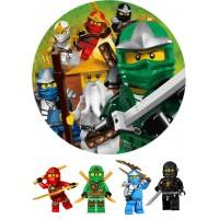 """Вафельная картинка """"Ниндзяго Лего"""" №3"""