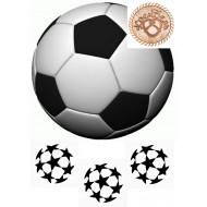 """Вафельная картинка """"Футбольный мяч"""""""