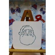 """Трафарет для печенья/пряников, кофе, десертов """"Санта Клаус"""""""