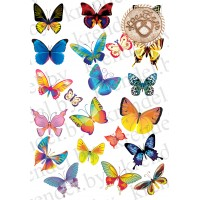 "Вафельная картинка ""Бабочки"" №3"