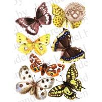 "Вафельная картинка ""Бабочки"" №4"