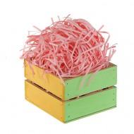 Бумажная стружка (наполнитель бумажный) 20 гр. розовая