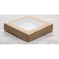 Коробка крафтовая 20*20*4.5 см