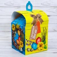 """Коробка для кулича """"С праздником пасхи"""""""