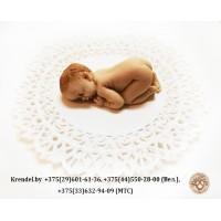 """Фигурка из мастики """"Новорожденный малыш"""""""