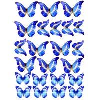 "Вафельная картинка ""Бабочки №5"""