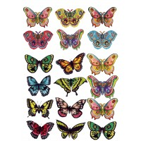 "Вафельная картинка ""Бабочки №7"""