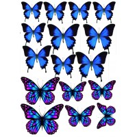 "Вафельная картинка ""Бабочки №8"""