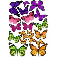 "Вафельная картинка ""Бабочки №11"""