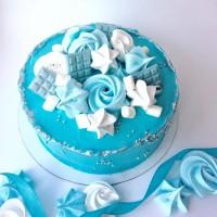 Шоколадные плитки голубые