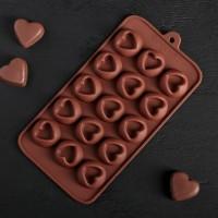 """Форма для шоколада, льда """"Сердца"""""""