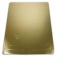 Поднос золото/белый 30*40 см