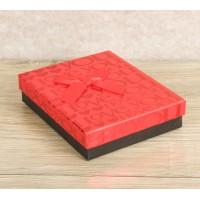 Коробка подарочная красно-чёрная 10,5*13*3 см