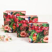 """Коробка подарочная """"Фламинго"""" 16,5*16,5*9 см"""