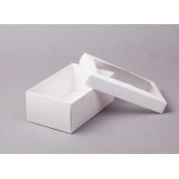 Коробка 25*15*10 см с окном белая