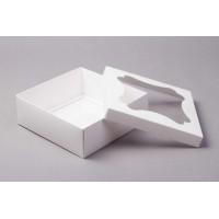 Коробка 15*15*7 см с окном белая