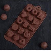 """Форма силиконовая для шоколада, карамели, льда """"Сладости"""""""