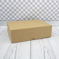 Коробка для 12 капкейков без окна крафт