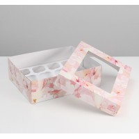 Коробка на 12 капкейков / Коробка подарочная №7