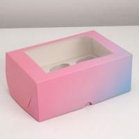 Коробка на 6 капкейков /Коробка подарочная