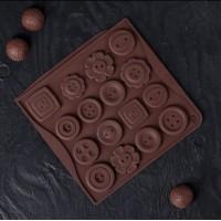 "Форма для шоколада, карамели, льда ""Пуговицы"""